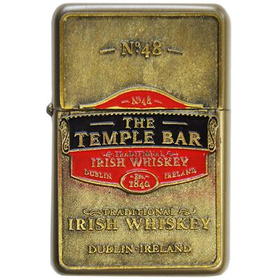 Oil Lighter With Temple Bar Traditional Irish Whiskey Design