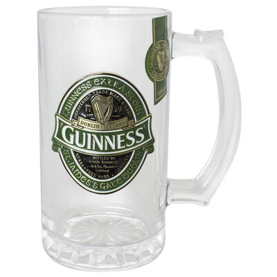 Guinness Ireland Collectable Tankard with Embossed Guinness Ireland Label