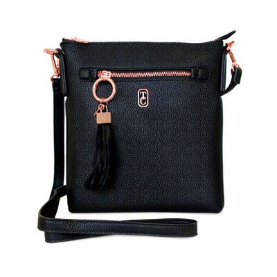 Tipperary Crystal The Chelsea Cross Body Pouch, Black Colour