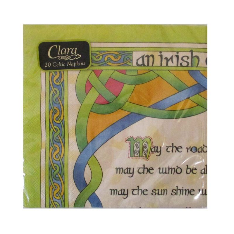 Irish Weave Celtic  An Irish Blessing Designed Napkins  Pack Of 20