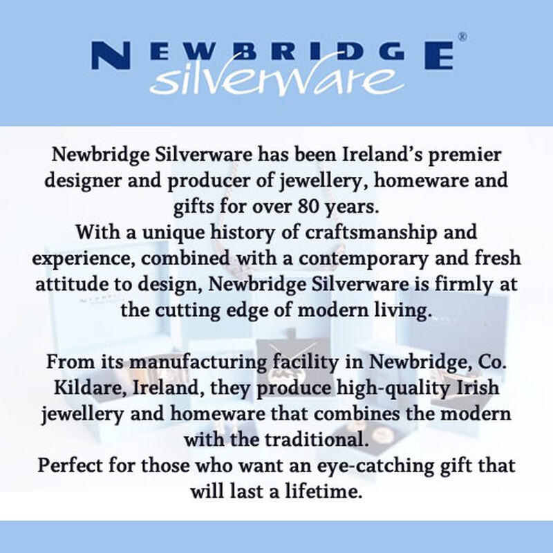 Newbridge Silverware Silver Plated Drop Pendant With Clear Stone