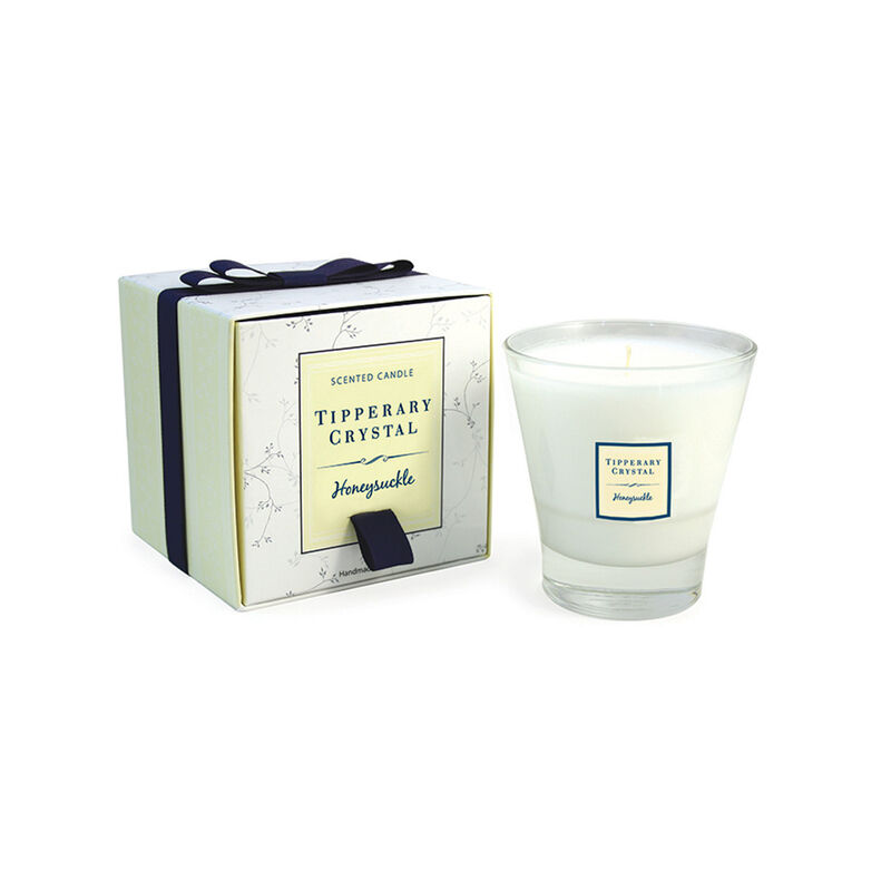 Tipperary Crystal Designed Tumbler Honeysuckle Scented Candle