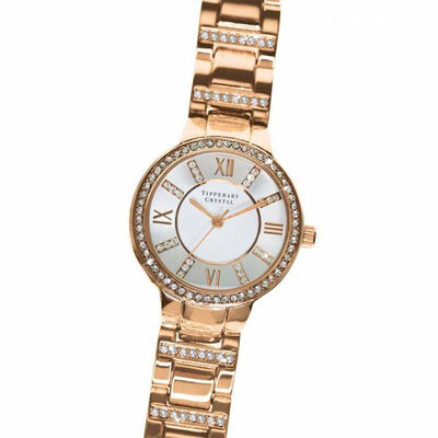 Tipperary Crystal Continuance Rose Gold Watch