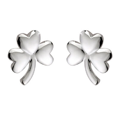 Hallmarked Sterling Silver Shamrock Earrings