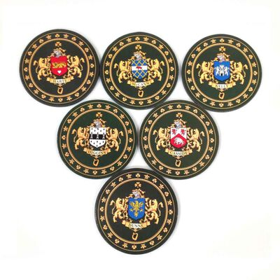 Heraldic Coaster Cork Back With Your Family Crest  One Coaster Per Order