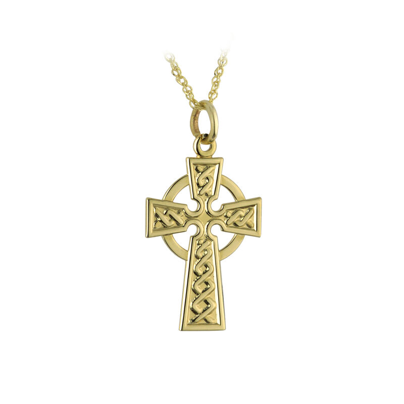 9 Carat Gold Celtic Cross Pendant