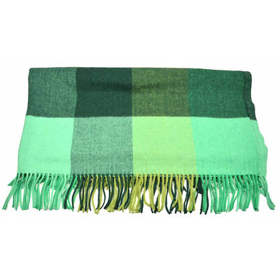 Aran Woollen Mills Soft Alpaca Wool Irish Blanket  Green In Colour