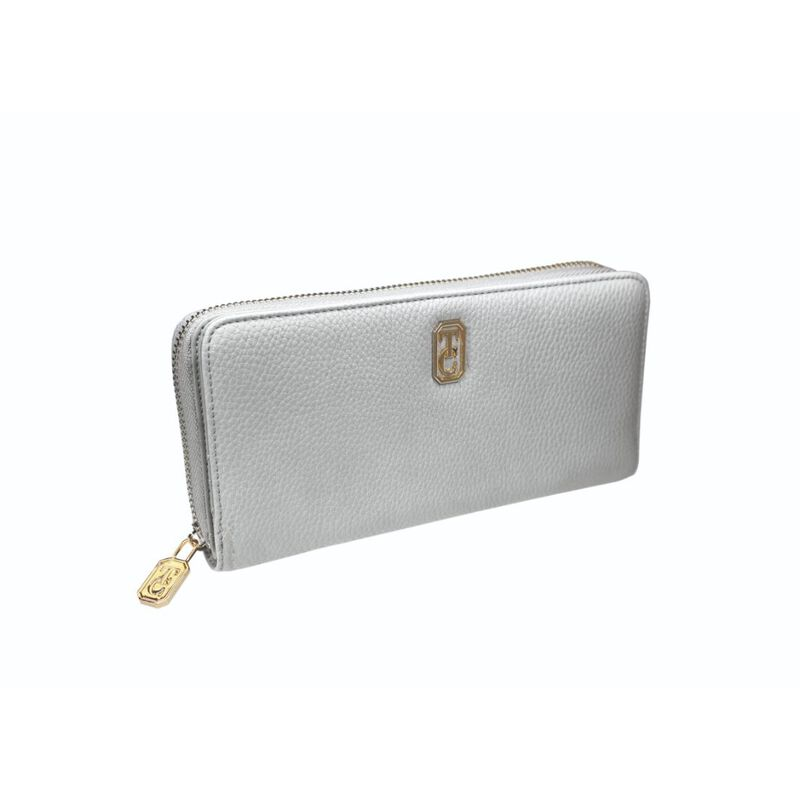 Tipperary Crystal Large White Ladies Zipped Wallet With Gold Hardware