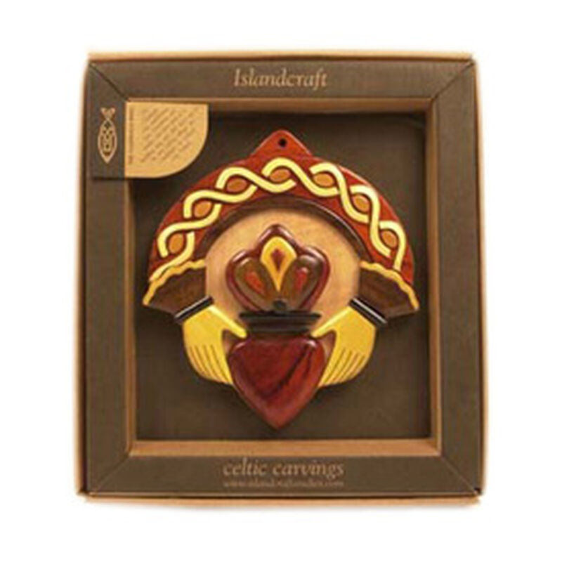 Wooden Irish Claddagh Plaque