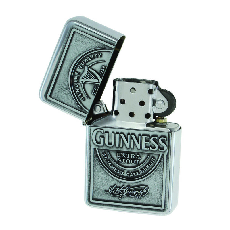Guinness Wind-Proof Embossed Label Oil Lighter