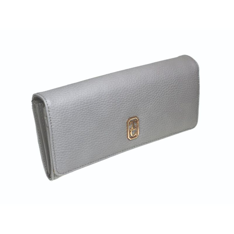 Tipperary Crystal Large White Ladies Wallet With Gold Hardware