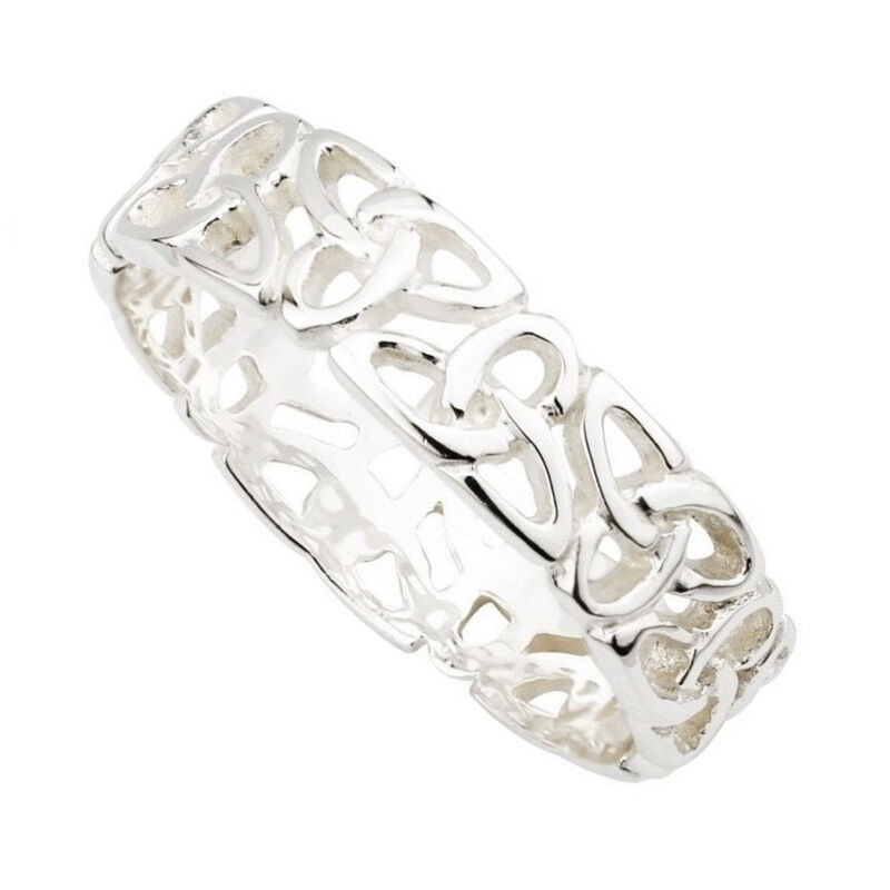 Ladies Hallmarked Sterling Silver Trinity Knot Ring