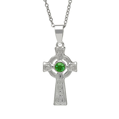 Silver Plated Celtic Cross Design Pendant Presented in a Gift Box