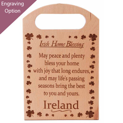 Wooden Chopping Board With Irish Home Blessing Small