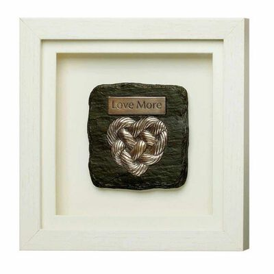 Framed Bronze Heart Design With Love More Text