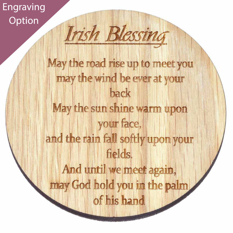 Irish Wooden Designed Coaster With An Irish Blessing 'May The Road Rise..'