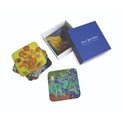 Tipperary Crystal Vincent Van Gough Coaster Collection –  Set Of 6