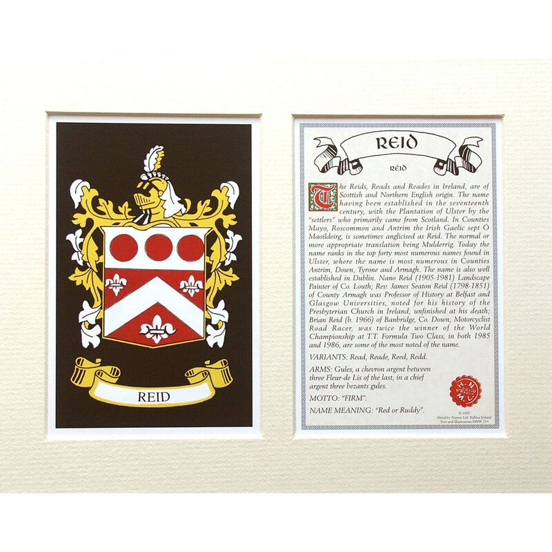 Heraldic Mounts With Family Coat Of Arms  The County Crest And Souvenir Title