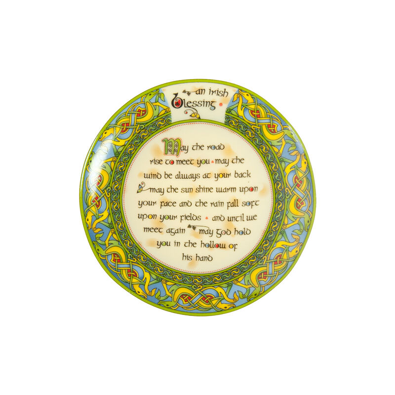 Ceramic Irish Blessing Display Plate 10Cm